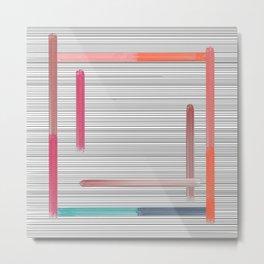 line squares Metal Print