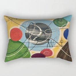 Music abstract color symphony positive Rectangular Pillow