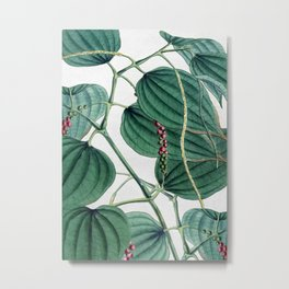 Green leaves I Metal Print