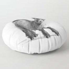 Goat baby G097 Floor Pillow