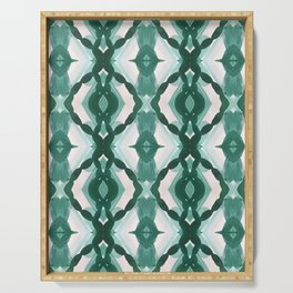 Watercolor Green Tile 1 Serving Tray