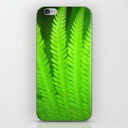 a green Fern iPhone Skin
