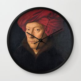 Jan van Eyck – A Portrait of a Man with a Turban Wall Clock