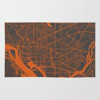 washington Area & Throw Rugs featuring Washington Map by Map Map Maps