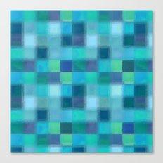 Blue Squared Canvas Print