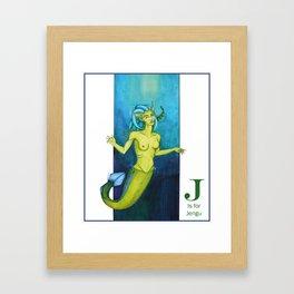 J is for Jengu Framed Art Print