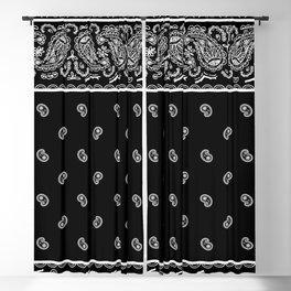 Classic Black Bandana Blackout Curtain