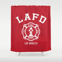 LA Firefighters Shower Curtain