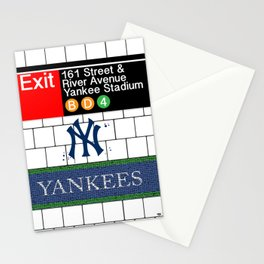 NYC Yankees Subway Stationery Cards