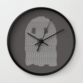 Ghost Typography Wall Clock