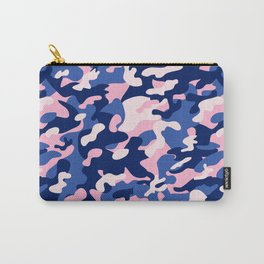 Blue Pink Camouflage Carry-All Pouch