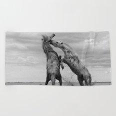 Horses  Beach Towel