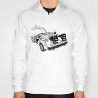 delorean Hoodies featuring delorean by marzini