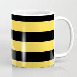 Even Horizontal Stripes, Yellow and Black, L Coffee Mug