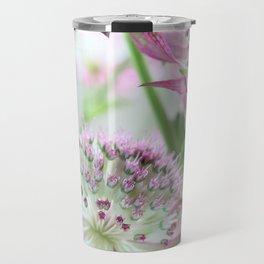 Pastel Pink Astrantia Flowers Travel Mug