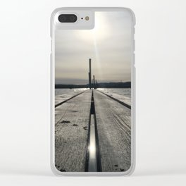 Walk on water Clear iPhone Case
