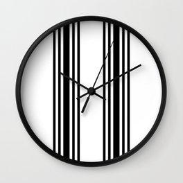 Black and white modern stripe pattern 01 Wall Clock