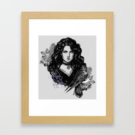 Lilac and gooseberry Framed Art Print