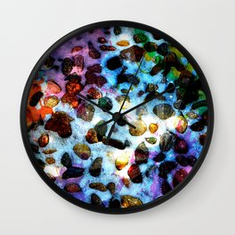 Pebbles In Snow Wall Clock