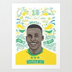 Pelé Art Print