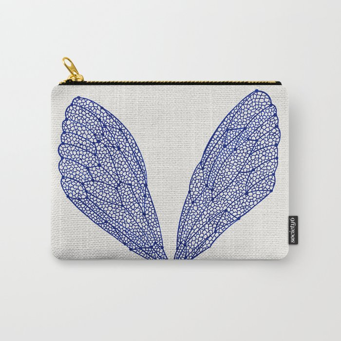 Navy Cicada Wings Carry-All Pouch