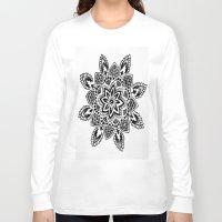 zentangle Long Sleeve T-shirts featuring Zentangle by Cady Bogart