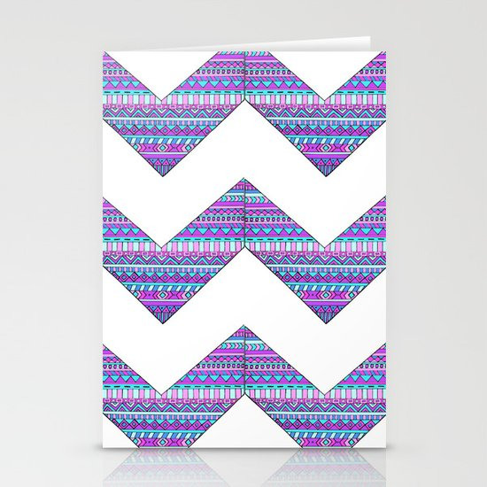 Patterned chevrons Stationery Cards