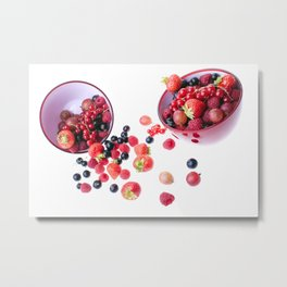 Fresh berries Metal Print