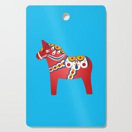 Swedish Dala Horse Illustration Cutting Board