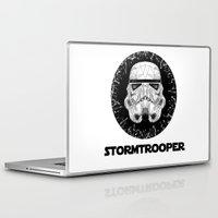 stormtrooper Laptop & iPad Skins featuring stormtrooper by Tarik Ali Sert