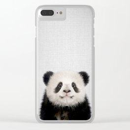 Panda Bear - Colorful Clear iPhone Case