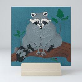 Cute City Raccoon in Tree Mini Art Print