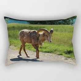 Bighorn Sheep - Banff National Park Rectangular Pillow