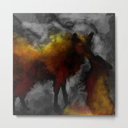 Fire foxes  Metal Print
