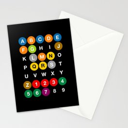 NYC: New York Subway Stationery Cards