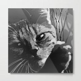 set your cat free vector art black white Metal Print
