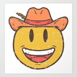 Cowboy Rancher cattleman  Smiley Gift Art Print