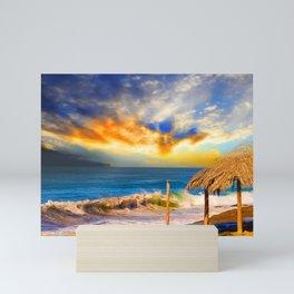 Beach Happy Mini Art Print