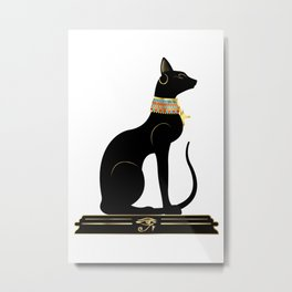 Egyptian Cat Sphynx Metal Print
