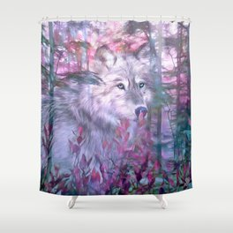 Forest Ghost Shower Curtain