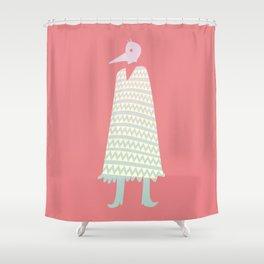 A Stranger Comes A-Callin' Shower Curtain