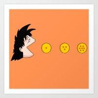goku Art Prints featuring Goku by Pac-Mods