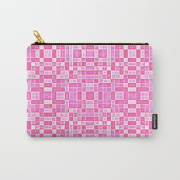 Pink Pixel Pattern Carry-All Pouch