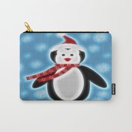 Happy Christmas Penguine Carry-All Pouch