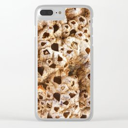 Natural pearl shell. Textural background. Macro Clear iPhone Case