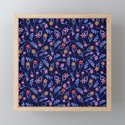 Blue Watercolor Floral Pattern by nlmiller07art