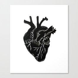 Black Heart II Canvas Print