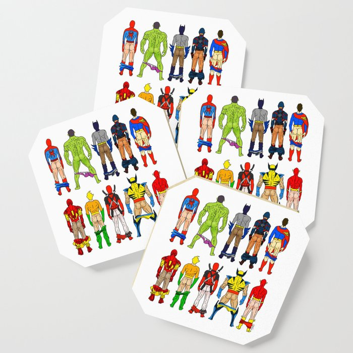 Superhero Butts Coaster