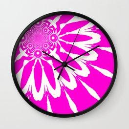 The Modern Flower Fuchsia Pink Wall Clock