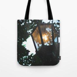 gas lamp, summer walks. Tote Bag